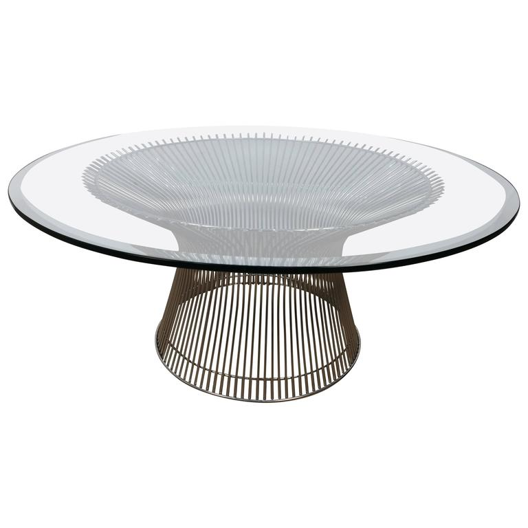 Warren platner coffee table for sale at 1stdibs for Warren platner coffee table
