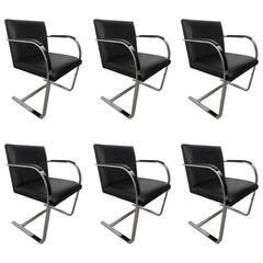 Set of Six Knoll BRNO Chairs