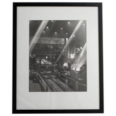 Industrial Steel Mill Black and White Photograph