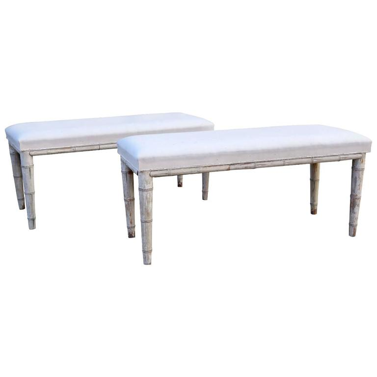Pair of Upholstered Benches 1