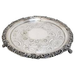 19th Century Sheffield Silver Salver