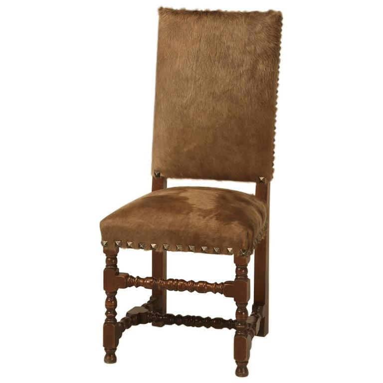 Antique French Louis XIII Style Dining Chair