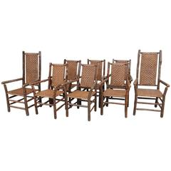Set of Eight Signed Old Hickory Dinning Chairs