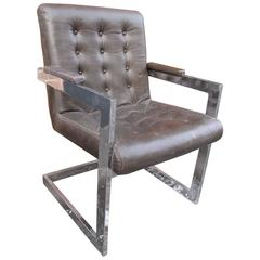 Tufted Leather Armchair by Directional