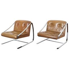 "Vintage ""Plaza"" Lounge Chairs by Brueton"