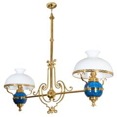 Gilt-Brass Billiard Table Light