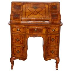 North Italian Olivewood and Marquetry Bureau Secretaire
