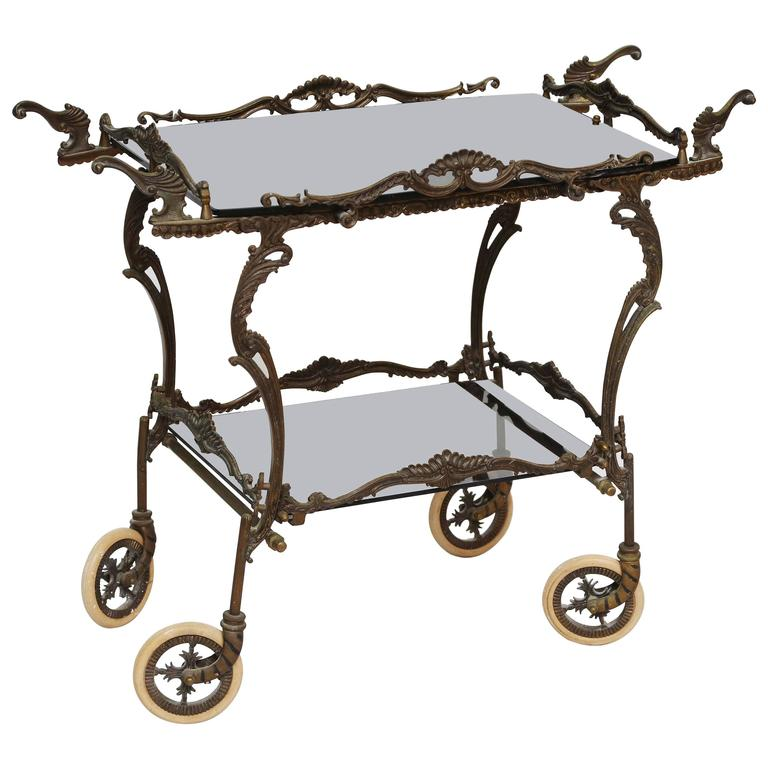 Bronze Barcart, Daliesque, Aesthetic Movement, Russia, Middle East, Spain For Sale