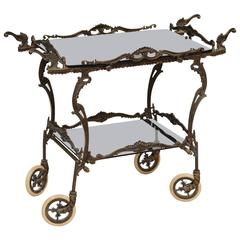 SALE! SALE!SALE! ONE OF ITS KIND BRONZE BARCART  never seen before