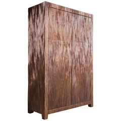 Pleats Armoire, Hand Repoussé Copper with Antique Finish, Limited Edition