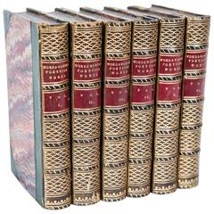 Poetical Works of William Wordsworth in Six Volumes, Leather, circa 1849