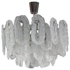 Italian Mid-Century Murano Glass Chandelier by Vistosi