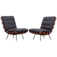 Pair of Martin Eisler and Carlo Hauner Matching Lounge Chairs