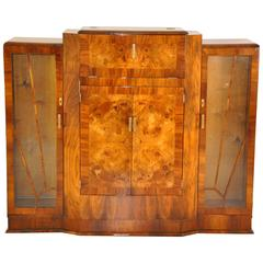 Art Deco Style Bar Made of Walnut