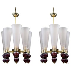 Pair of chandeliers at cost price