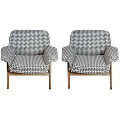 Elegant Pair of Italian Vintage Armchairs
