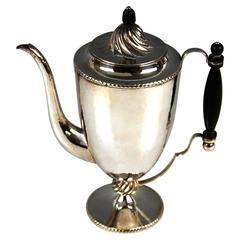 Silver Austrian Coffee Pot Empire Style J. C. Klinkosch, circa 1870