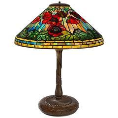 "Tiffany Studios New York ""Wire Mesh Poppy"" Table Lamp"