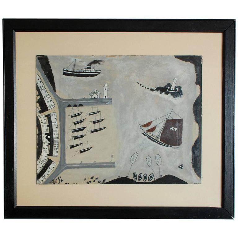 "Black Framed Naval Drawing by ""Old Jack"" 1"