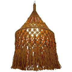 Hanging Organic Macrame Pendant Lamp