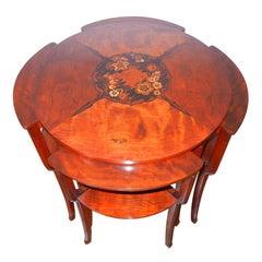 Louis Majorelle Marquetry Art Nouveau Tables