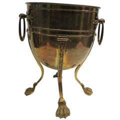 Vintage Brass Champagne Cooler