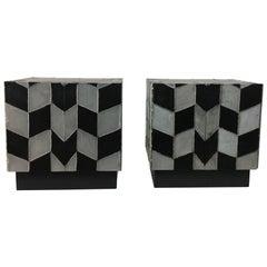 Pair of Brutal Soldered Aluminum Cabinets