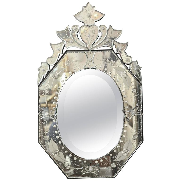 Small octagon venetian style wall mirror for sale at 1stdibs for Small wall mirrors for sale
