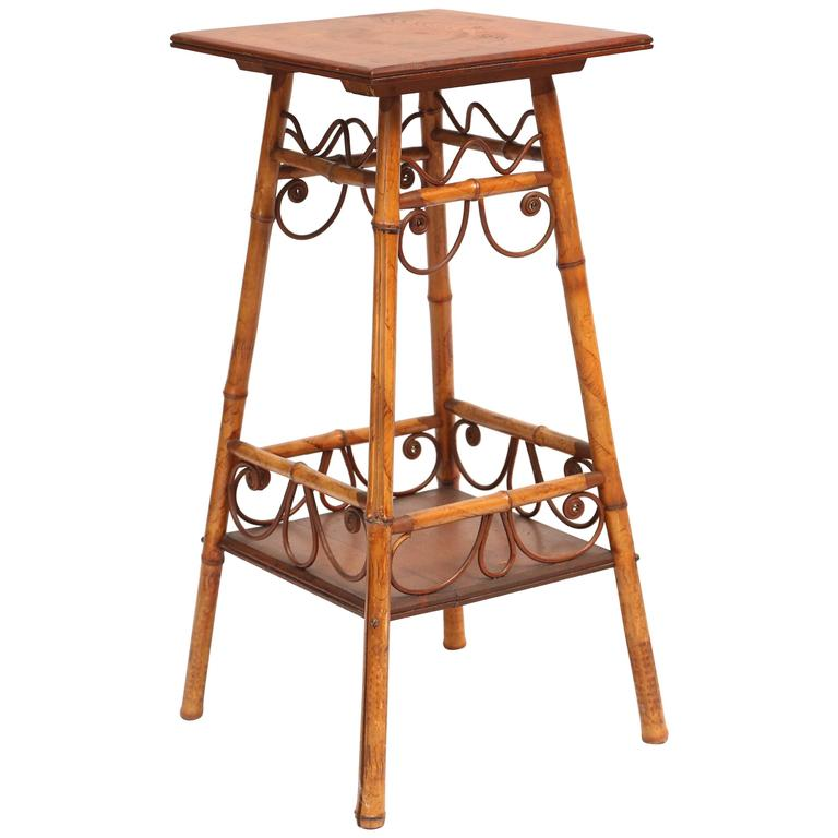 Superb 19th Century Bamboo Stand 1