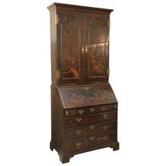 Superb 18th Century Chinoiserie Secretary  Bookcase