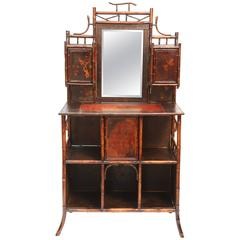 Superb 19th Century English Bamboo Side Cabinet