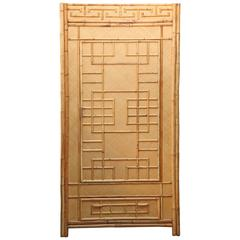 "Mid-Century ""South Seas"" Rattan Armoire"