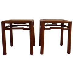 Pair of Fine Jumu End Tables