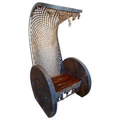 Outstanding Bohemian Brutalist Chair