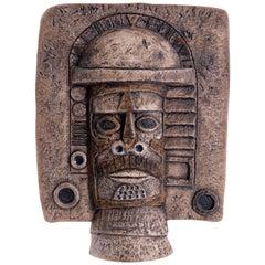Troika Mask Aztec Paul Klee Leslie Illsley, England, circa 1972