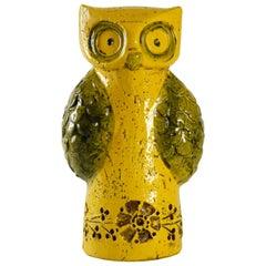 Bitossi Aldo Londi Yellow Owl, Italy, circa 1965