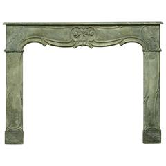 Rare, Elegant 18th Century Dutch Louis XV Fireplace Mantel