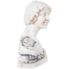 Antique Marble Bust of Iullette by Prof G.Bessi Early 20th Century