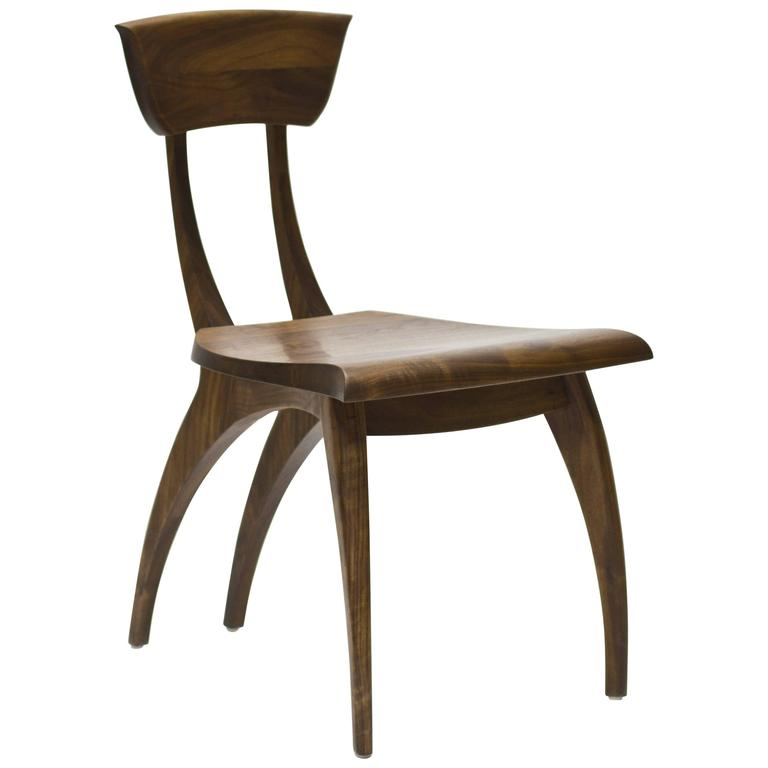 Flicka Chair in Solid Walnut by Brooke M. Davis for Wooda For Sale