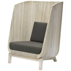 Husk Privacy Chair in Ash with a Winter Wheat Finish by Laura Mays for Wooda