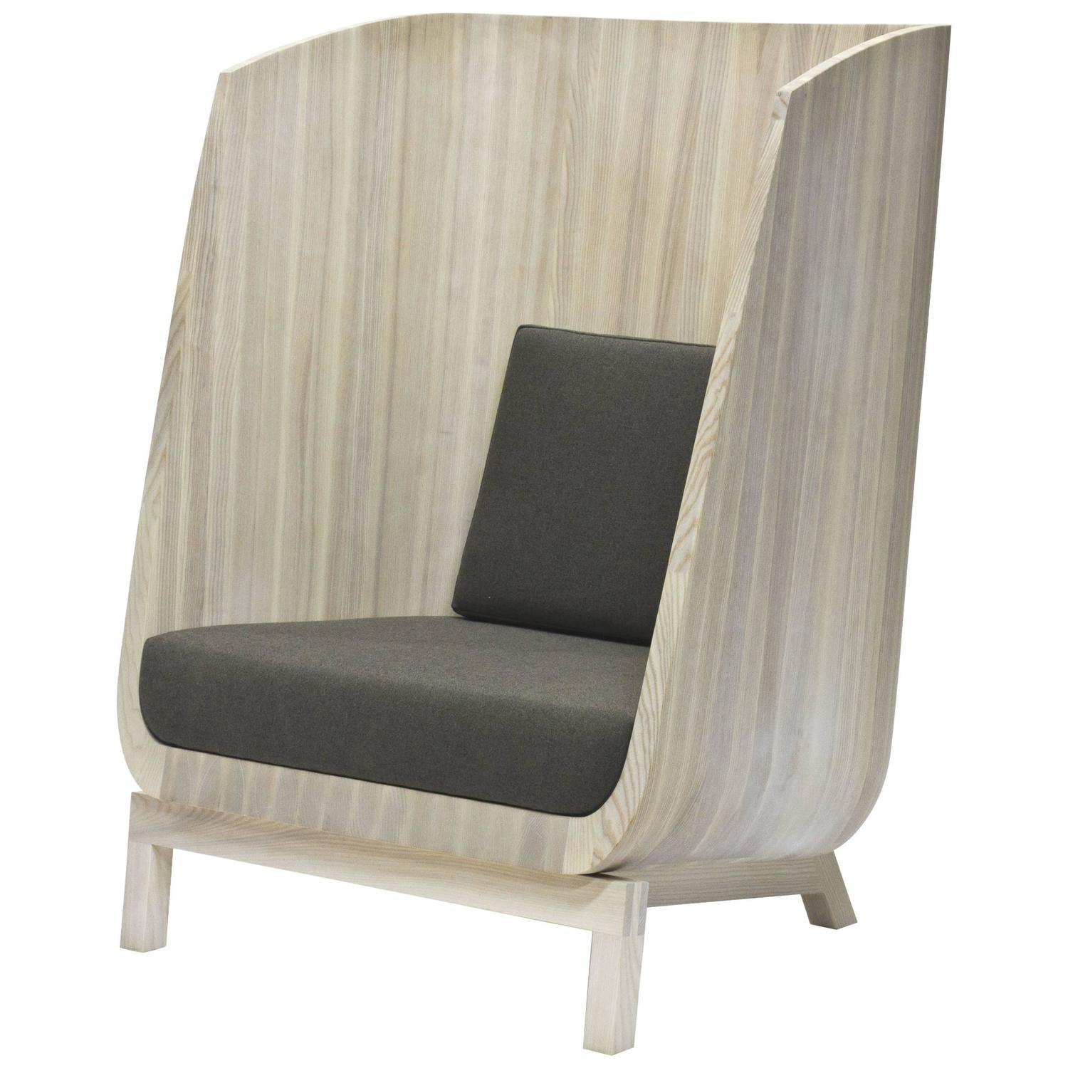 Husk Privacy Chair in Solid Ash by Laura Mays for Wooda - Antique And Vintage Wingback Chairs - 830 For Sale At 1stdibs