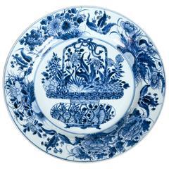 19th Century Delft Chinoiserie Platter