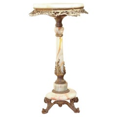19th Century French Cast Gilt Bronze Table with Onyx Top