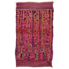 Vibrant Moroccan Rug with Banded Kilims