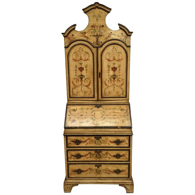 Italian hand painted secretary desk for sale at 1stdibs for Italian painted furniture