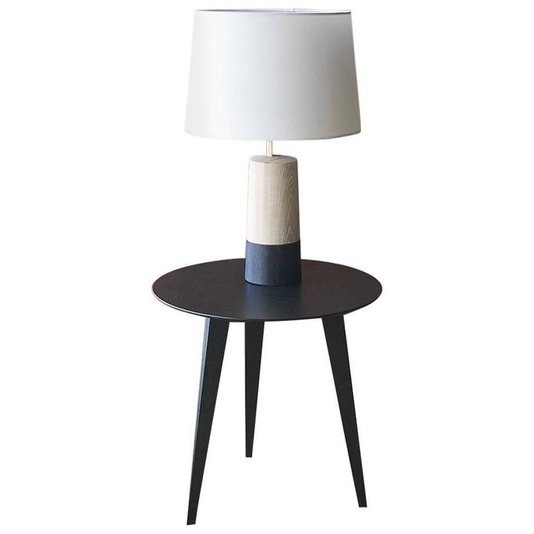 solid wood table lamp for sale at 1stdibs. Black Bedroom Furniture Sets. Home Design Ideas