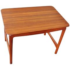 Solid Teak and Rosewood Mosaic Top  Side Table Hvidt & Molgaard-Nielsen