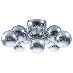 Sonneman Molecular Chrome Globe Flush Mount Chandelier