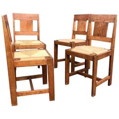 Early 1900s Set Of Four Arts And Crafts Dining Chairs Gustav Stickley Style For At 1stdibs