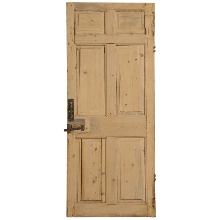 Antique Irish Scrubbed Pine Interior Door For Sale At 1stdibs